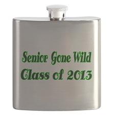 Senior Gone Wild-green Flask