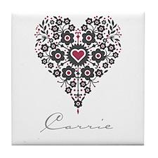 Love Carrie Tile Coaster