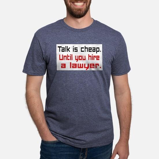 Talk is cheap. Mens Tri-blend T-Shirt