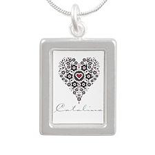 Love Catalina Silver Portrait Necklace