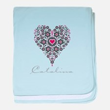 Love Catalina baby blanket
