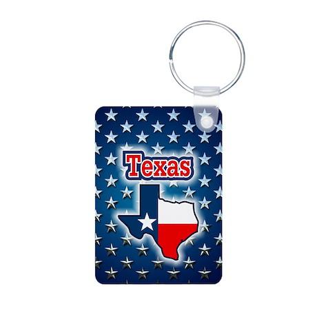 Texas Aluminum Photo Keychain