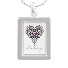 Love Cathy Silver Portrait Necklace