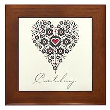 Love Cathy Framed Tile