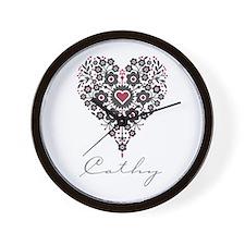 Love Cathy Wall Clock