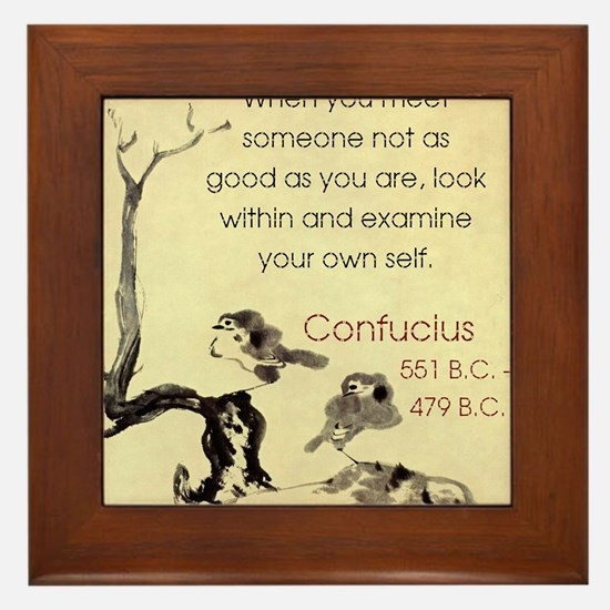 When You Meet Someone Not As Good - Confucius Fram