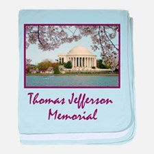 Thomas Jefferson Memorial baby blanket