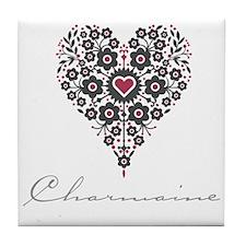 Love Charmaine Tile Coaster