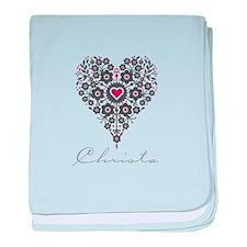 Love Christa baby blanket