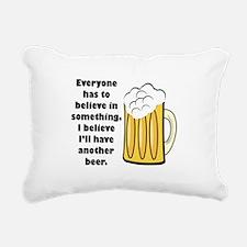 believe-in-beer.png Rectangular Canvas Pillow