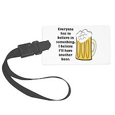 believe-in-beer.png Luggage Tag