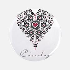 "Love Cindy 3.5"" Button"