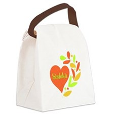 Sudoku Heart Canvas Lunch Bag