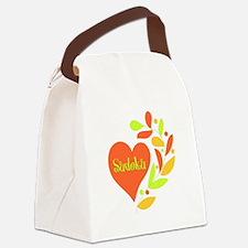 Sudoku Heart Canvas Lunch Bag