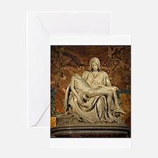 Michelangelos Pieta Greeting Card