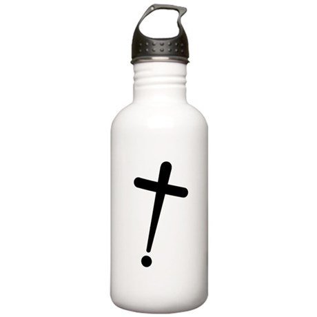 Exclamation-Cross Water Bottle