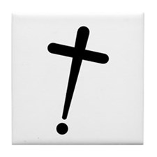 Exclamation-Cross Tile Coaster