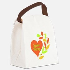 Square Dancing Heart Canvas Lunch Bag