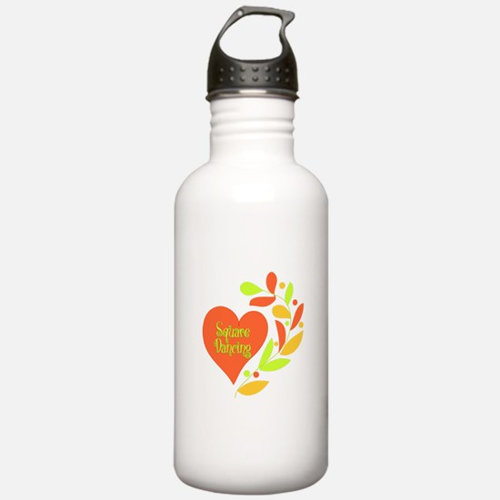 Square Dancing Heart Water Bottle
