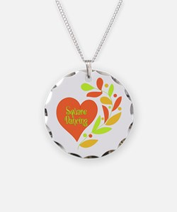 Square Dancing Heart Necklace