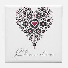 Love Claudia Tile Coaster