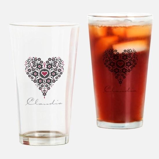 Love Claudia Drinking Glass