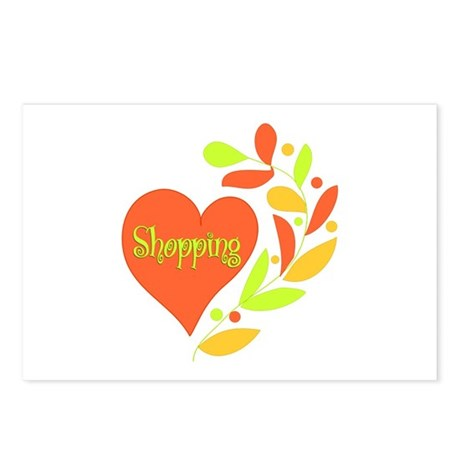 Shopping Heart Postcards (Package of 8)