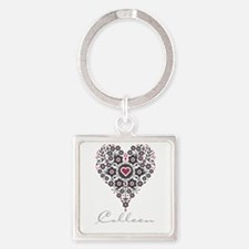 Love Colleen Square Keychain