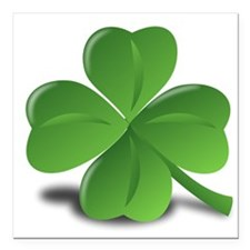 "shamrock Square Car Magnet 3"" x 3"""