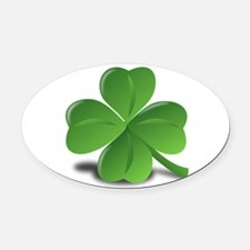 shamrock Oval Car Magnet