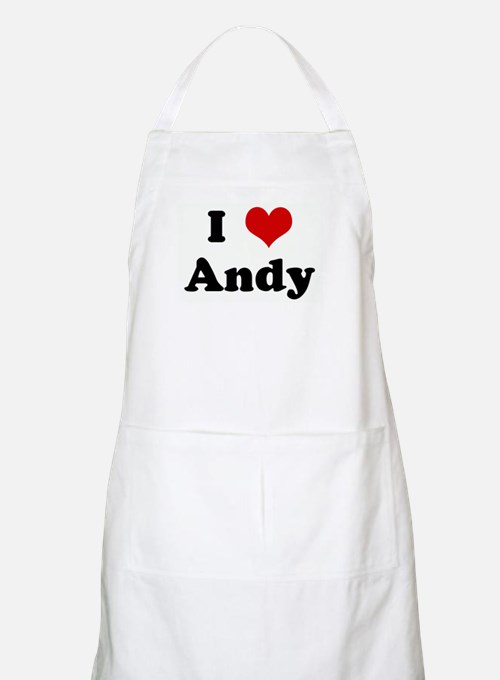 I Love Andy BBQ Apron