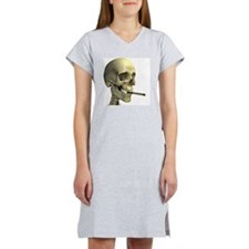 Smoking skeleton - Women's Nightshirt