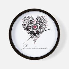 Love Corinne Wall Clock