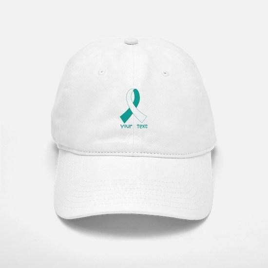 Personalized Cervical Cancer Ribbon Baseball Baseball Cap