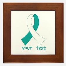 Personalized Cervical Cancer Ribbon Framed Tile
