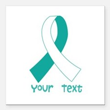 Personalized Cervical Cancer Ribbon Square Car Mag