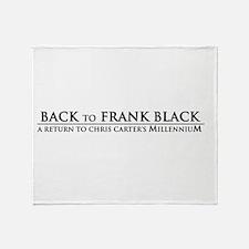 Back To Frank Black Throw Blanket