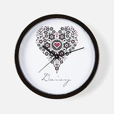 Love Daisy Wall Clock