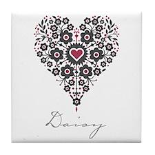Love Daisy Tile Coaster