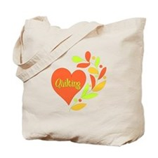 Quilting Heart Tote Bag