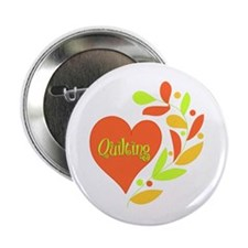 "Quilting Heart 2.25"" Button (10 pack)"
