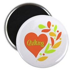 "Quilting Heart 2.25"" Magnet (100 pack)"