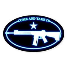 Come and Take It Blue Glow Decal