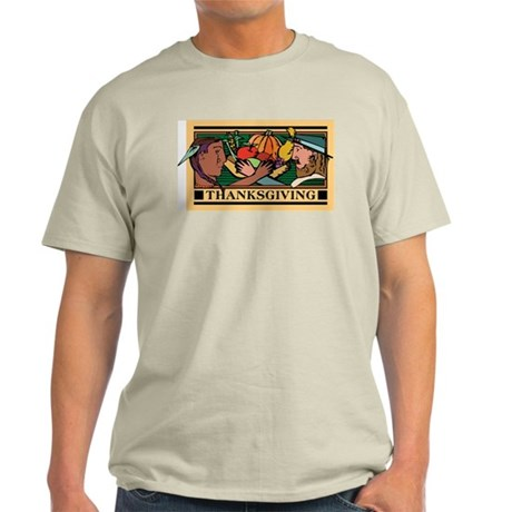 Retro Thanksgiving Day Ash Grey T-Shirt
