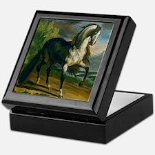 Watercolor Stallion Keepsake Box