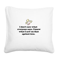 Popcorn Popping Square Canvas Pillow