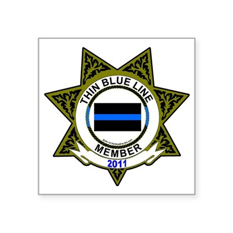 thin Blue Line Sticker decal (Oval) For Member Sti