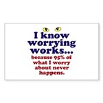 Worrying Works! Sticker