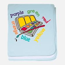 Colors baby blanket