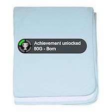 Born (Achievement) baby blanket